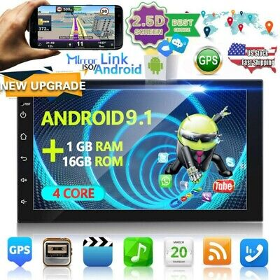 Android 9.1 Radio de coche GPS Navi Sat BLUETOOTH WIFI DOBLE 2DIN...