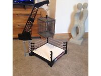 Wrestling ring with cage