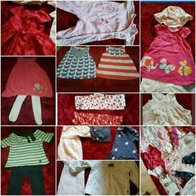 Baby girl bundle 6 to 12 months