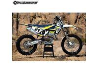 New FLU PTS3 Husqvarna TC 125 FC 250 350 450 16-18 TE FE 17 Graphics Sticker Kit