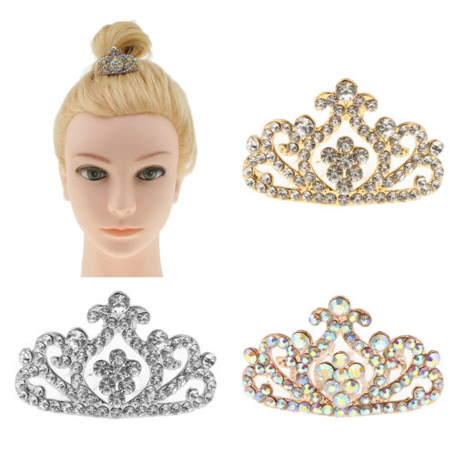 Novelty Princess Tiara Crown w/Comb For Girls Dress up Hair
