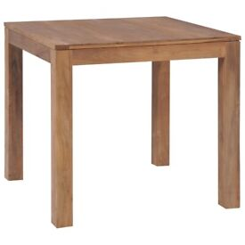 Dining Table Solid Teak Wood with Natural Finish 82x80x76 cm-246954