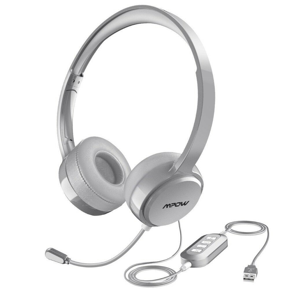 MPOW Mac PC Headset Multi-Use USB or Audio Jack Gaming Headphones VOIP  Skype Headset Noise Reduction | in Poole, Dorset | Gumtree