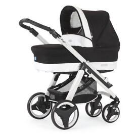 Bebecar Ip Op Evolution Combination Pram in White Black Magic