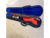 Violin, bow and case