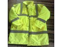 Dickies Fluorescent Yellow Hi Viz Large Jacket.