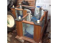 Large corner coffee table fish tank
