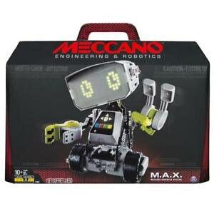 NEW Meccano 6037377 Erector  M.A.X Robotic Interactive Toy with Artificial Intelligence