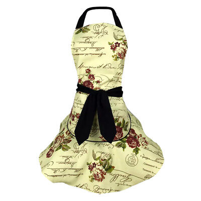 Cotton Aprons Kitchen Vintage Novelty For Cooking Funny Ladies Womens BBQ