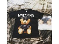 Teddy bear T shirts black and white unisex brand new medium