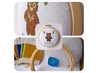 Sun Bear Cross Stitch Padded Hoop Kit