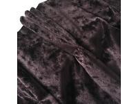 2 Pairs deep purple velvet curtains - John Lewis