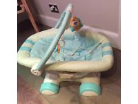 Excellent condition FISHER PRICE BABY CHAIR- imitates seat in moving car.