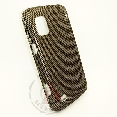 For ZTE Warp Rubberized HARD Case Snap on Phone Cover Carbon Fiber (Fiber Hard Case Snap)
