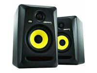 KRK ROCKET 5 series studio monitors incl stands used once