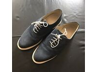 Dr Martens Docs Genuine Blue Suede Shoes, size 10 UK, RRP £120, selling for £50 ono