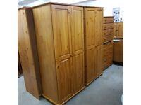 Solid wood Wardrobes x 3