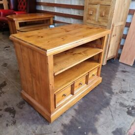 Solid Reclaimed Oak TV stand Cabinet Unit Barker & Stonehouse (Delivery Available)