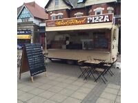 Wood Fired Pizza - Burger - Sausage - Baked Potato Catering Trailer