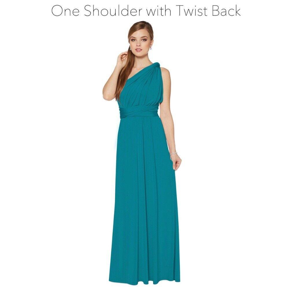 2 size 8 Debenhams multiway teal dresses | in Aylsham, Norfolk | Gumtree