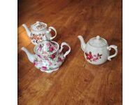 3 Tea Pots