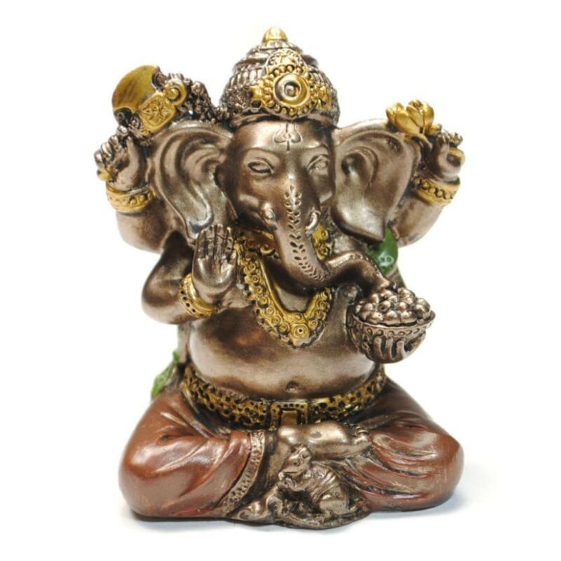 "MINIATURE GANESHA STATUE 2"" Mini Hindu Elephant God Small Resin NEW Lord Ganesh"