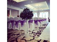 Wedding and event chair covers, centrepieces, aisle decor, lanterns etc from Lily Special Events