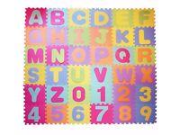 Large Foam EVA Floor Mat Jigsaw Tiles Alphabet Numbers Kids child Puzzle
