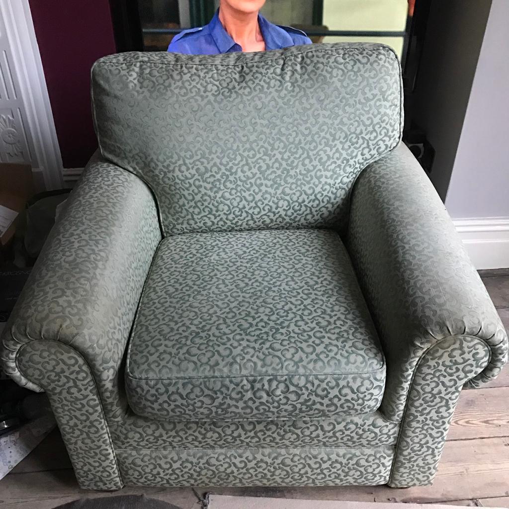 Green armchair good condition