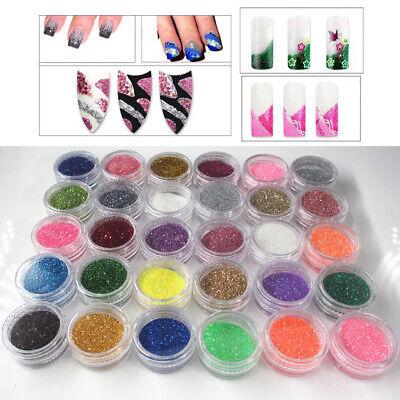 DIY Nagel Glitzer Puder, 30 Farben Glitter Pulver für Gesicht, Nägel, Haar,