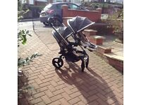 Icandy peach 3 Pram twin grey can be single Pram also