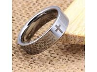 Mens Lord's Prayer rings silver