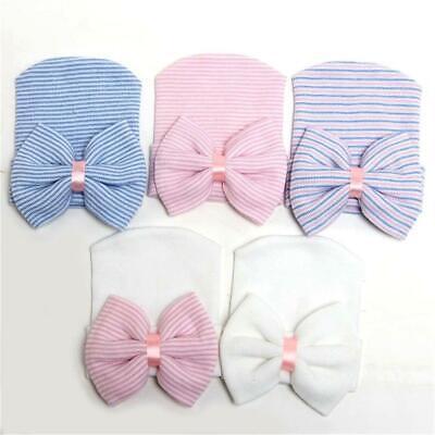 Lovely Newborn Baby Infant Toddler New Soft Bowknot  Cap Beanie Hat