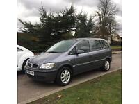 VAUXHALL ZAFIRA 2005 1.6 7 SEATER GREY DRIVES LOVELY LONG MOT VERY CLEAN INSIDE AND OUT LONG MOT