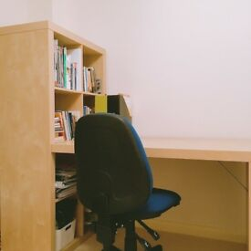 Desk, Storage Unit and Chair