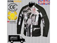 Men's Motorbike Motorcycle Camouflage Jacket Wind/ Waterproof CE Armours