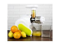 electriQ HSL600 Horizontal Slow Masticating Juicer with Quiet Motor & Cleaning Brush