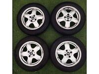 GENUINE BMW MINI R56 4 ALLOY/ALUMINIUM WHEEL 15'' INCH WITH TYRES -175/65 R15