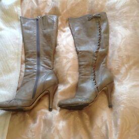 Faith Boot Leather Heels