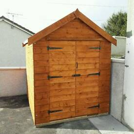 6ft by 8ft Ship lap tongue and groove shed