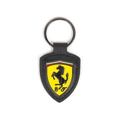 Scuderia Ferrari Formula 1 Authentic  Leather Shield Keychain
