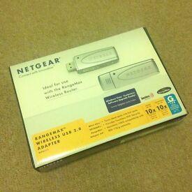 Netgear Rangemax (WPNT111) Wireless USB 2.0 Adaptor + Box + Original Contents - GRADE A