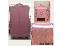 Next Pink bedroom furniture