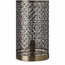 Bronze Moroccan Ceiling Pendant & 2x Bronze Moroccan Pad Lamps - set