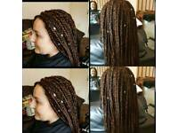 Afro Caribbean and European Africa hair