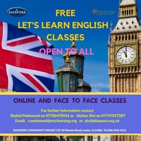LEARN ENGLISH FOR FREE ALL OVER LONDON