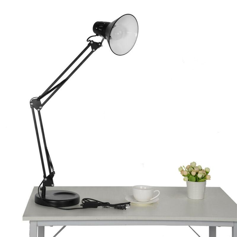 Adjustable Metal Desk Light Spring Balanced Swing Arm Button