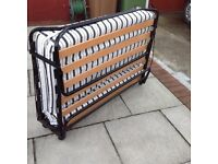 Foldaway double bed