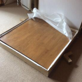Unused Light Oak Table still in original box