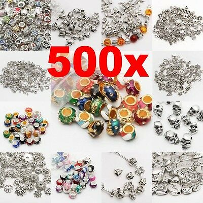 Wholesale 500Pcs Tibet Silver Beads Spacer For Jewelry Making European Bracelet - Jewelry Craft